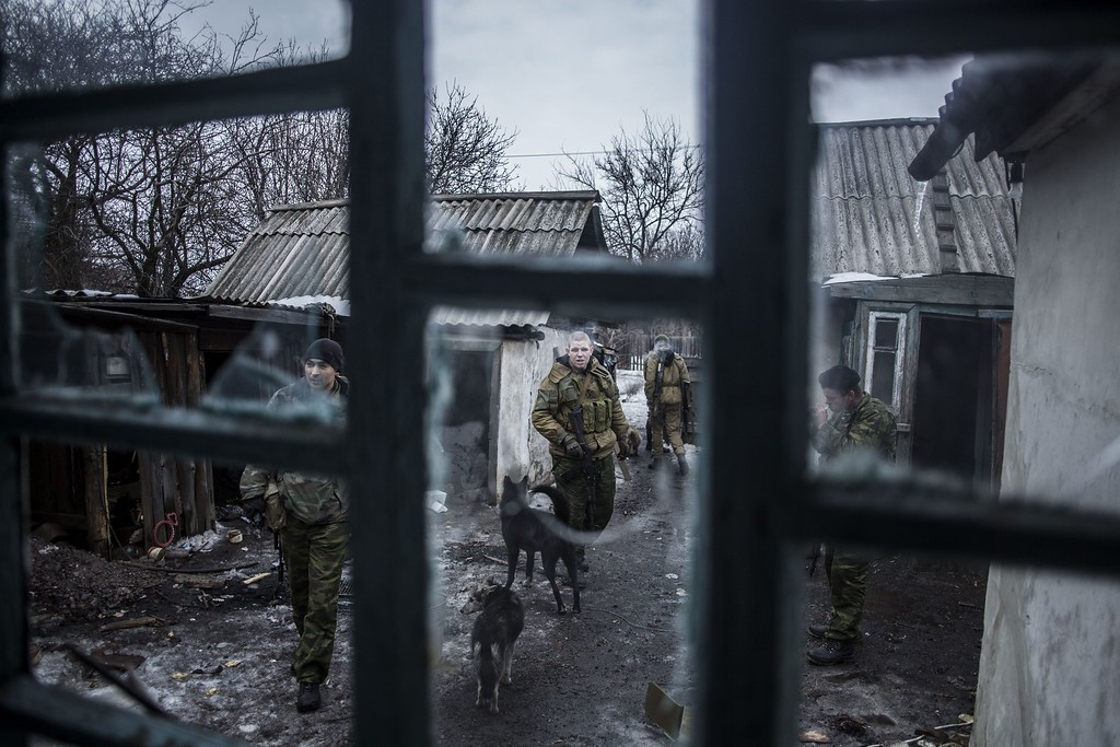 Description of . Pro-Russian separatists patrol at an advanced post near the eastern Ukrainian city of Debaltseve, in the Donetsk region, on January 28, 2015. Ukraine President Petro Poroshenko made a personal plea to Russia's Vladimir Putin and Washington threatened tougher measures should Moscow fail to rein in separatists mounting a new offensive in the east of the ex-Soviet republic. MANU BRABO/AFP/Getty Images