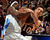 Ty Lawson #3 of the Denver Nuggets and Steve Nash #10 of the Los Angeles Lakers battle for control as a jump ball is called at the Pepsi Center on February 25, 2013 in Denver, Colorado. NOTE TO USER: User expressly acknowledges and agrees that, by downloading and or using this photograph, User is consenting to the terms and conditions of the Getty Images License Agreement.  (Photo by Doug Pensinger/Getty Images)
