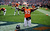 Denver Broncos linebacker Steven Johnson (53) warms up on the field prior to the Denver Broncos vs Baltimore Ravens AFC Divisional playoff game at Sports Authority Field Saturday January 12, 2013. (Photo by Hyoung Chang,/The Denver Post)