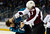 SAN JOSE, CA - JANUARY 26:  Ryan O'Byrne #3 of the Colorado Avalanche fights with Brad Stuart #7 of the San Jose Sharks during the first period of their game at HP Pavilion on January 26, 2013 in San Jose, California.  (Photo by Thearon W. Henderson/Getty Images)