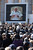 Pilgrims watch a giant TV screen as they attend Pope Benedict XVI's final general audience in St Peter's Square before his retirement on February 27, 2013 in Vatican City, Vatican. The Pontiff has held his last weekly public audience before stepping down tomorrow. Pope Benedict XVI has been the leader of the Catholic Church for eight years and is the first Pope to retire since 1415. He cites ailing health as his reason for retirement and will spend the rest of his life in solitude away from public engagements.  (Photo by Christopher Furlong/Getty Images)