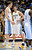DENVER, CO. - JANUARY 28: Denver Nuggets small forward Danilo Gallinari (8) gives a little pep talk to Denver Nuggets center Timofey Mozgov (25) during the fourth quarter January 28, 2013 at Pepsi Center. The Denver Nuggets defeated the Indiana Pacers 102-101 in NBA Action. (Photo By John Leyba / The Denver Post)
