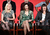 Actresses Megan Hilty, Katharine McPhee, and Anjelica Huston speak onstage during the