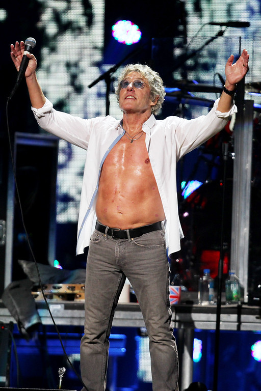 Description of . This image released by Starpix shows Roger Daltrey of The Who at the 12-12-12 The Concert for Sandy Relief at Madison Square Garden in New York on Wednesday, Dec. 12, 2012. Proceeds from the show will be distributed through the Robin Hood Foundation. (AP Photo/Starpix, Dave Allocca)