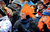 Broncos fans show their support during the Denver Broncos vs Baltimore Ravens AFC Divisional playoff game at Sports Authority Field Saturday January 12, 2013. (Photo by Tim Rasmussen,/The Denver Post)