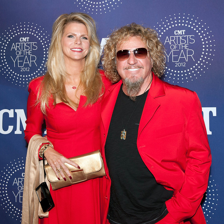 """. Kari Karte and Sammy Hagar attend the 2012 CMT \""""Artists Of The Year\"""" Awards at The Factory At Franklin on December 3, 2012 in Franklin, Tennessee.  (Photo by Erika Goldring/Getty Images)"""