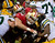 San Francisco 49ers Justin Smith stops Green Bay Packers DuJuan Harris in the second quarter of an NFC divisional playoff NFL football game on Saturday, Jan. 12, 2013, in San Francisco. (AP Photo/The Sacramento Bee, Jose Luis Villegas)