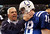 IRVING, TX - NOVEMBER 19:  Quarterback Peyton Manning #18 of the Indianapolis Colts talks with head coach Bill Parcells of the Dallas Cowboys after the Cowboys defeated the Colts 21-14 at Texas Stadium on November 19, 2006 in Irving, Texas.  (Photo by Ronald Martinez/Getty Images)
