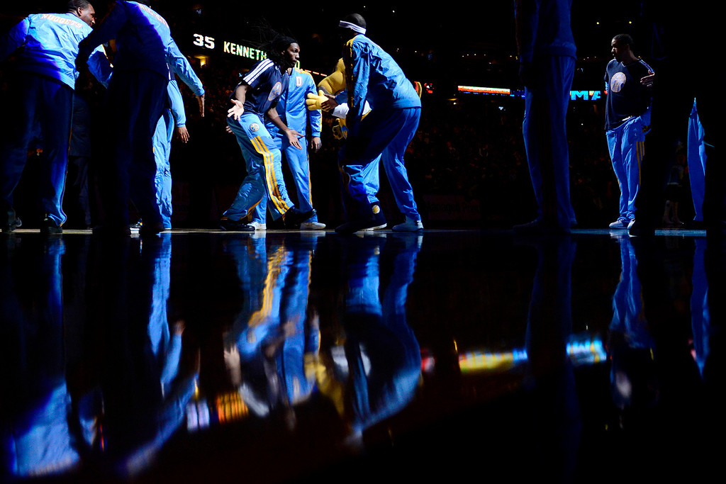 Description of . Denver Nuggets small forward Kenneth Faried (35) is introduced before the game against the L.A. Clippers at the Pepsi Center on Tuesday, January 1, 2013. AAron Ontiveroz, The Denver Post