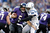 Joe Flacco #5 of the Baltimore Ravens is sacked by Robert Mathis #98 of the Indianapolis Colts in the third quarter during the AFC Wild Card Playoff Game at M&T Bank Stadium on January 6, 2013 in Baltimore, Maryland.  (Photo by Rob Carr/Getty Images)