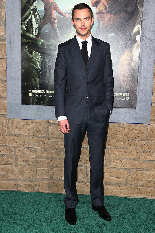 """. Actor Nicholas Hoult attends the Premiere Of New Line Cinema\'s \""""Jack The Giant Slayer\"""" at the TCL Chinese Theatre on February 26, 2013 in Hollywood, California.  (Photo by Frederick M. Brown/Getty Images)"""