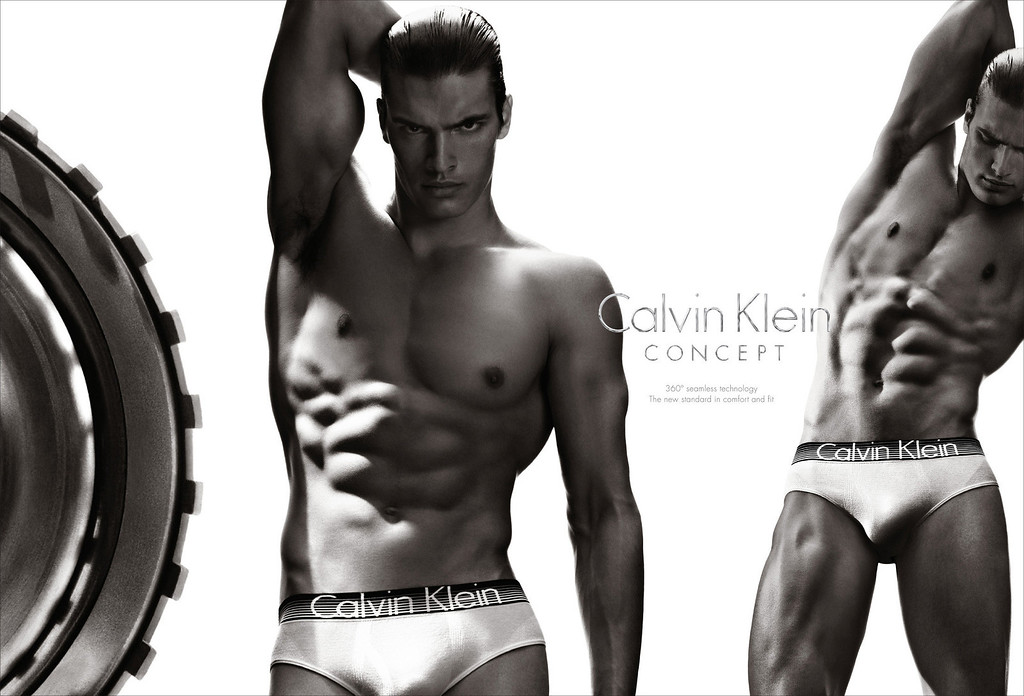 Description of . This  screenshot provided by Calvin Klein shows the company's Super Bowl advertisement for the company's Concept brand. (AP Photo/Calvin Klein)