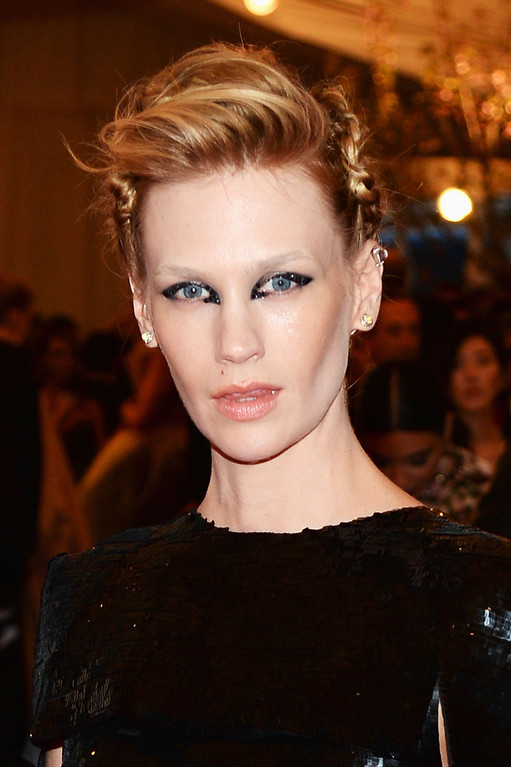 Description of . Actress January Jones attends the Costume Institute Gala for the