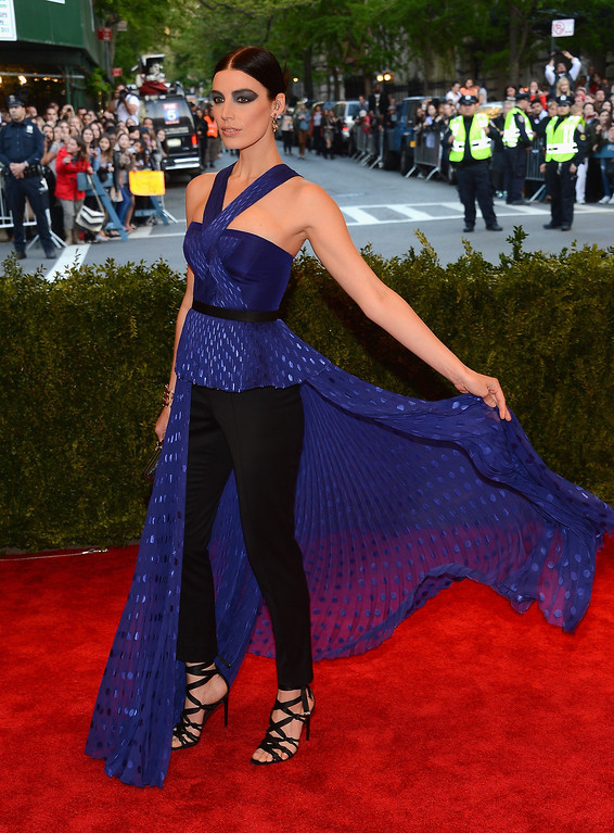 Description of . Actress Jessica Pare attends the Costume Institute Gala for the