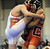 Joel Hernandez of Brighton, left, and Jareb Aziz of Centauri are in the 182 pound final of Northern Colorado Christmas Tournament at Island Grove Event Center in Greeley, Colo., on Saturday, Dec. 22, 2012. Aziz won the match. Hyoung Chang, The Denver Post