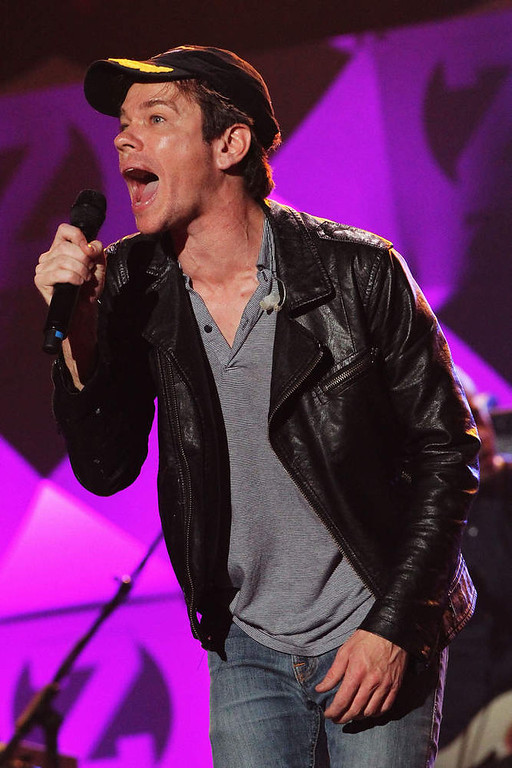 Description of . Nate Ruess of Fun. performs onstage during Z100's Jingle Ball 2012, presented by Aeropostale, at Madison Square Garden on December 7, 2012 in New York City.  (Photo by Kevin Kane/Getty Images for Jingle Ball 2012)