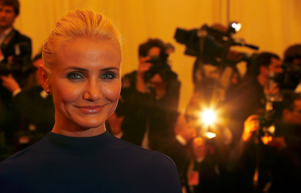 Description of . Actress Cameron Diaz arrives at the Metropolitan Museum of Art Costume Institute Benefit celebrating the opening of