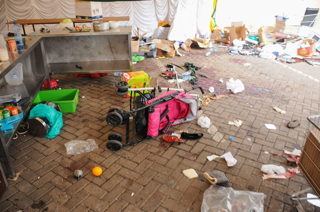 Description of . Personal belongings are pictured on the ground floor of the Westgate Mall on September 21, 2013 in Nairobi.     AFP PHOTO JAMES QUEST/AFP/Getty Images