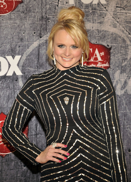 Description of . Singer Miranda Lambert arrives at the American Country Awards on Monday, Dec. 10, 2012, in Las Vegas. (Photo by Jeff Bottari/Invision/AP)