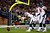 Arian Foster #23 of the Houston Texans celebrates after scoring a touchdown in the second quarter against the New England Patriots during the 2013 AFC Divisional Playoffs game at Gillette Stadium on January 13, 2013 in Foxboro, Massachusetts.  (Photo by Jared Wickerham/Getty Images)