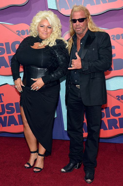 Description of . Beth Chapman and Duane Chapman attend the 2014 CMT Music awards at the Bridgestone Arena on June 4, 2014 in Nashville, Tennessee.  (Photo by Michael Loccisano/Getty Images)