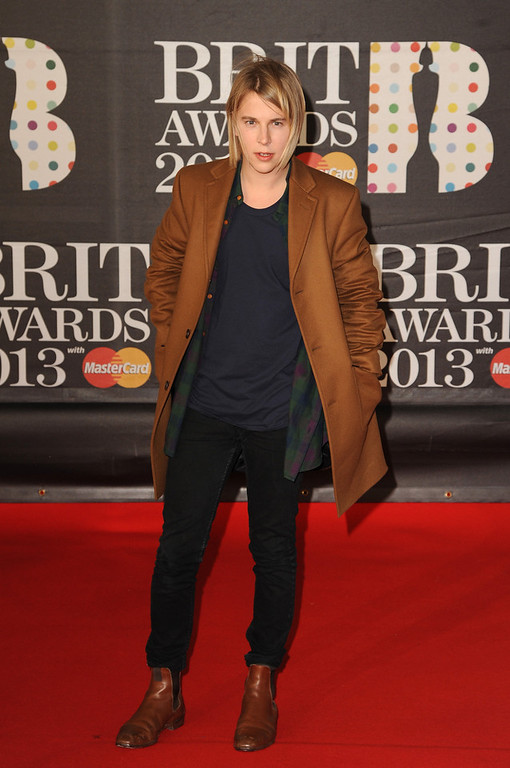 Description of . Tom Odell attends the Brit Awards 2013 at the 02 Arena on February 20, 2013 in London, England.  (Photo by Eamonn McCormack/Getty Images)