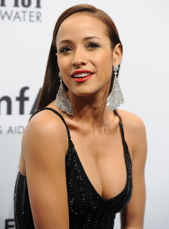 Description of . Actress Dania Ramirez attends amfAR's New York gala at Cipriani Wall Street on Wednesday, Feb. 6, 2013 in New York. (Photo by Evan Agostini/Invision/AP)