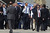 US President Barack Obama (C) walks away after visiting an Iron Dome missile battery (not seen) at the Ben Gurion Airport on March, 20, 2013 near Tel Aviv, Israel. (Photo by Uriel Sinai/Getty Images)