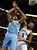 Memphis Grizzlies forward Marreese Speights (5) knocks the ball away from Denver Nuggets forward Danilo Gallinari (8), of Italy, in the first half of an NBA basketball game on Saturday, Dec. 29, 2012, in Memphis, Tenn. (AP Photo/Lance Murphey)