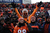 Fans cheer on the Broncos in the second quarter. The Denver Broncos vs Baltimore Ravens AFC Divisional playoff game at Sports Authority Field Saturday January 12, 2013. (Photo by Joe Amon,/The Denver Post)