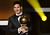 FIFA Ballon d'Or award winner Barcelona's Argentinian forward Lionel Messi holds the trophy during the FIFA Ballon d'Or awards ceremony at the Kongresshaus in Zurich on January 7, 2013.   OLIVIER MORIN/AFP/Getty Images