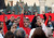 Egyptian protesters shout slogans against President Mohammed Morsi  in front of the presidential palace in Cairo, Egypt, Friday, Jan.25, 2013. Two years after Egypt's revolution began, the country's schism was on display Friday as the mainly liberal and secular opposition held rallies saying the goals of the pro-democracy uprising have not been met and denouncing Islamist President Mohammed Morsi. (AP Photo/Amr Nabil)