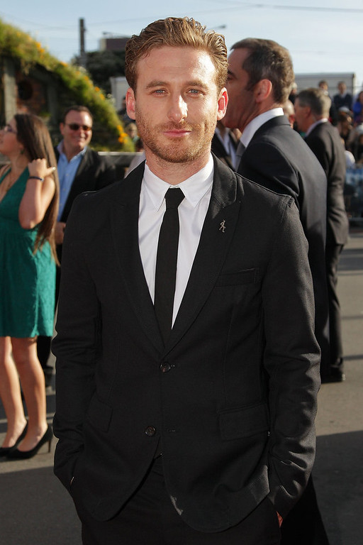 Description of . Dean O'Gorman, who plays Fili, arrives at the