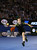Britain's Andy Murray reaches for a return to Switzerland's Roger Federer during their semifinal match at the Australian Open tennis championship in Melbourne, Australia, Friday, Jan. 25, 2013. (AP Photo/Greg Baker)