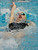 Fossil Ridge High School swimmer Bailey Nero worked on her backstroke before the finals Saturday night. The Colorado Coaches Invitational Swimming and Diving Meet wrapped up Saturday night, December 15, 2012.  Karl Gehring/The Denver Post