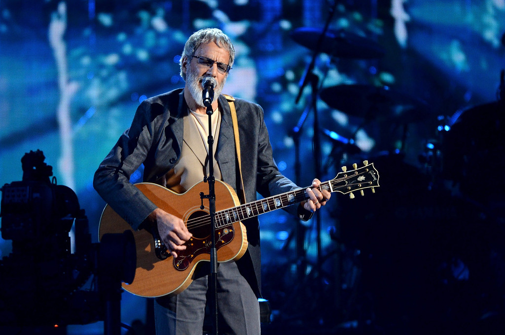 Description of . Inductee Cat Stevens performs onstage at the 29th Annual Rock And Roll Hall Of Fame Induction Ceremony at Barclays Center of Brooklyn on April 10, 2014 in New York City.  (Photo by Larry Busacca/Getty Images)