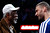 HOUSTON, TX - FEBRUARY 16:  NBA legend Bill Russell talks with Brook Lopez of the Brooklyn Nets before Lopez competes in the Sears Shooting Stars Competition part of 2013 NBA All-Star Weekend at the Toyota Center on February 16, 2013 in Houston, Texas. (Photo by Scott Halleran/Getty Images)