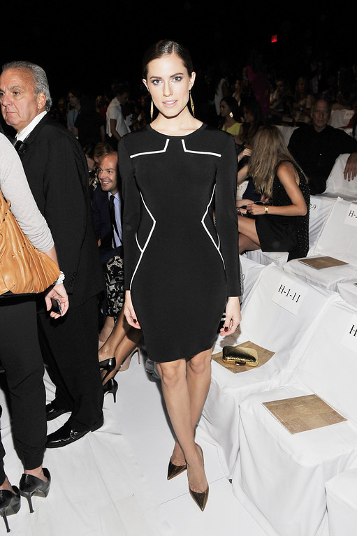 Description of . Allison Williams attends the Diane Von Furstenberg fashion show during Mercedes-Benz Fashion Week Spring 2014 at The Theatre at Lincoln Center on September 8, 2013 in New York City.  (Photo by Stephen Lovekin/Getty Images for Mercedes-Benz Fashion Week Spring 2014)