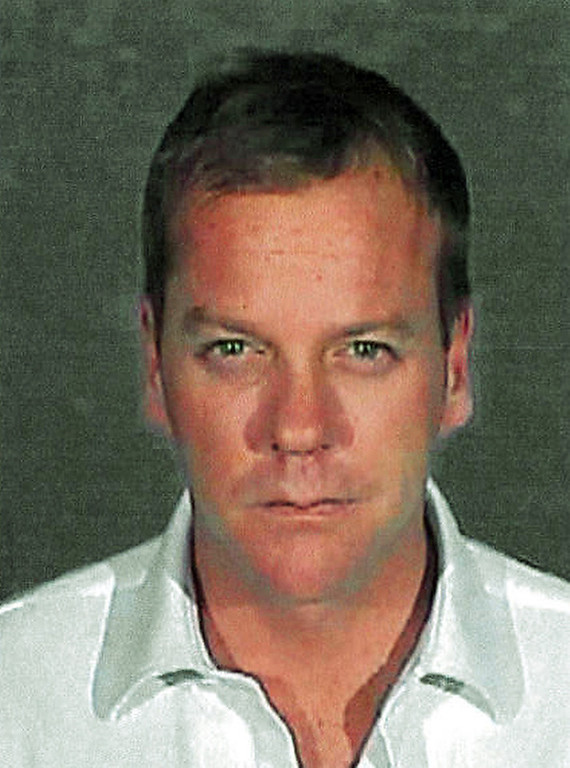 Description of . Shown in this police booking photo released by the Glendale Police Department showing Kiefer Sutherland in Glendale Calif. Wednesday Dec. 5,2007. Sutherland was sentenced Wednesday to 48 days in jail for racking up a second drunken driving arrest in three years and immediately reported to a Glendale lockup. (AP Photo/Glendale Police Dep.)