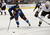 DENVER, CO. - FEBRUARY 06: Matt Duchene (9) of the Colorado Avalanche gets to the puck before Francois Beauchemin (23) of the Anaheim Ducks comes in on defense during the third period February 6, 2013 at Pepsi Center. The Colorado Avalanche fall to the Anaheim Ducks  3-0 during NHL action. (Photo By John Leyba / The Denver Post)
