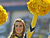 A cheerleader of the Michigan Wolverines watches play against the South Carolina Gamecocks in the Outback Bowl January 1, 2013 at Raymond James Stadium in Tampa, Florida.  (Photo by Al Messerschmidt/Getty Images)