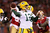 Quarterback Aaron Rodgers #12 of the Green Bay Packers throws the ball against the San Francisco 49ers in the first quarter during the NFC Divisional Playoff Game at Candlestick Park on January 12, 2013 in San Francisco, California.  (Photo by Stephen Dunn/Getty Images)