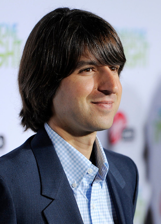 "Description of . Demetri Martin arrives at the premiere of the film ""Take Me Home Tonight\"" in Los Angeles, Wednesday, March 2, 2011. (AP Photo/Chris Pizzello)"