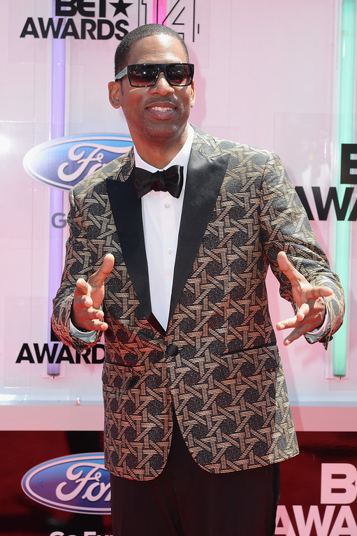 Description of . Actor Tony Rock attends the BET AWARDS '14 at Nokia Theatre L.A. LIVE on June 29, 2014 in Los Angeles, California.  (Photo by Earl Gibson III/Getty Images for BET)