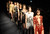 LONDON, UNITED KINGDOM - FEBRUARY 16: Models walk the runway at the Julien Macdonald show during London Fashion Week Fall/Winter 2013/14 at Goldsmiths' Hall on February 16, 2013 in London, England. (Photo by Stuart Wilson/Getty Images)