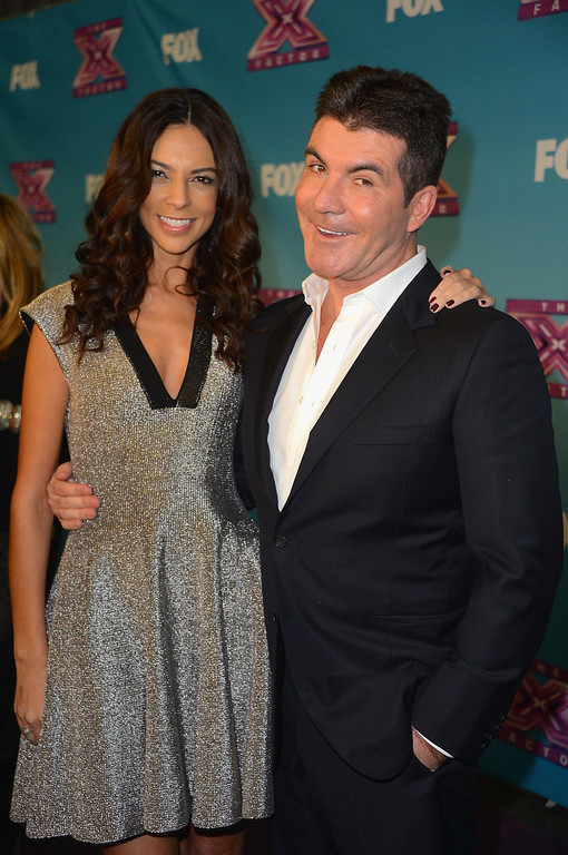 ". Extra correspondent Terri Seymour and Simon Cowell at Fox\'s ""The X Factor\"" Season Finale - Night 2 at CBS Televison City on December 20, 2012 in Los Angeles, California.  (Photo by Frazer Harrison/Getty Images)"