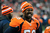 Denver Broncos linebacker Von Miller mugs for the camera during the fourth quarter of the blowout win over the Cleveland Browns Sunday at Sports Authority Field. Steve Nehf, The Denver Post