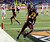 Central Michigan defensive back Jarret Chapman (29) acknowledges the crowd after Western Kentucky tight end Jack Doyle missed a fourth-down catch during the final minute of the fourth quarter of the Little Caesars Pizza Bowl NCAA college football game at Ford Field in Detroit, Wednesday, Dec. 26, 2012. Central Michigan won 24-21. (AP Photo/Carlos Osorio)