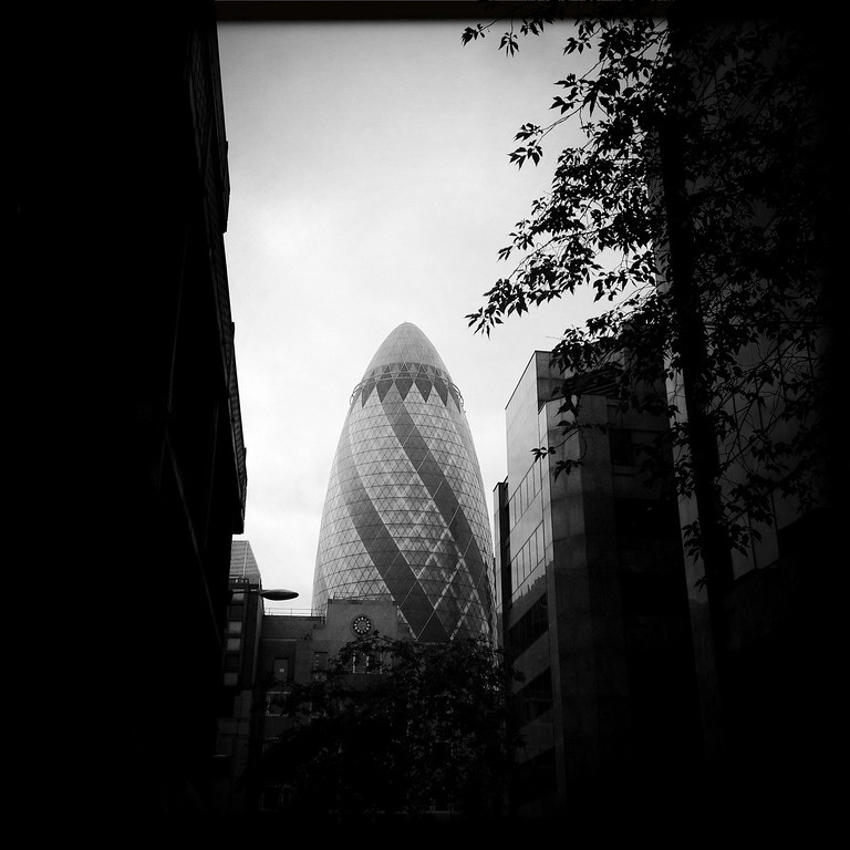 Description of . A general view of the 30 St Mary Axe on May 1, 2012 in London, England.  (Photo by Vittorio Zunino Celotto/Getty Images)