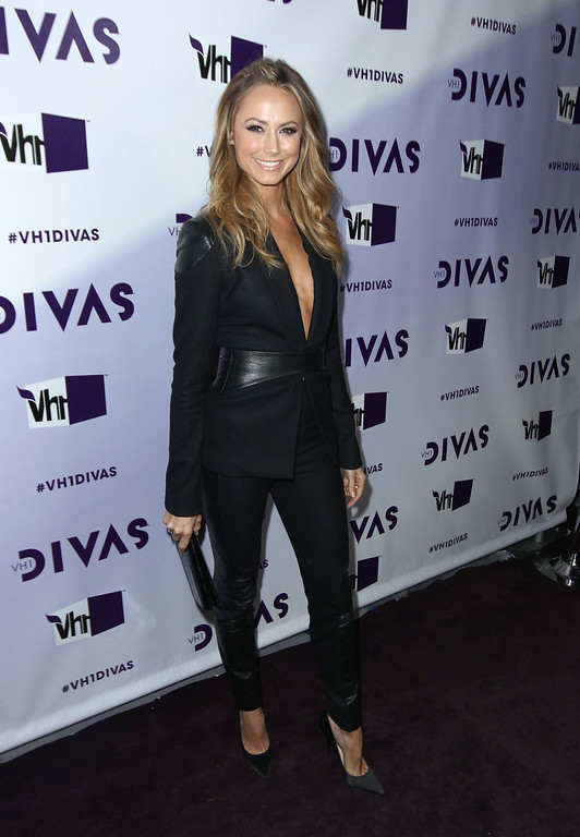 Description of . Stacy Keibler arrives at VH1 Divas on Sunday, Dec. 16, 2012, at the Shrine Auditorium in Los Angeles. (Photo by Matt Sayles/Invision/AP)